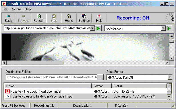 Youtube MP3 Downloader screenshot